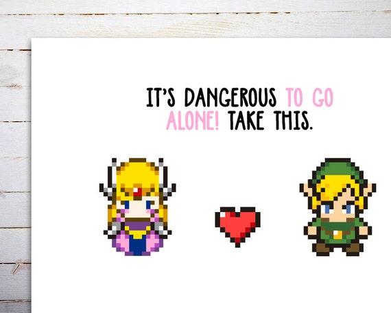 Valentines Day Card Zelda Valentines Card Valentine Card Etsy