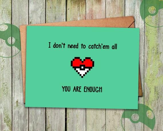 Pokemon Valentine Valentines Day Card Valentine Card Etsy