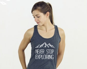 ec7667f6b4b27 More colours. Never stop exploring tank top tee women s tank top soft tri-blend  racerback ...