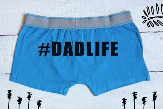 Dadlife boxers, caleçons boxeur papa, sous-vêtements de papas, cadeau pour lui, boxers papa, cadeau pour papa, boxers mari, copain cadeau, cadeau fête des pères