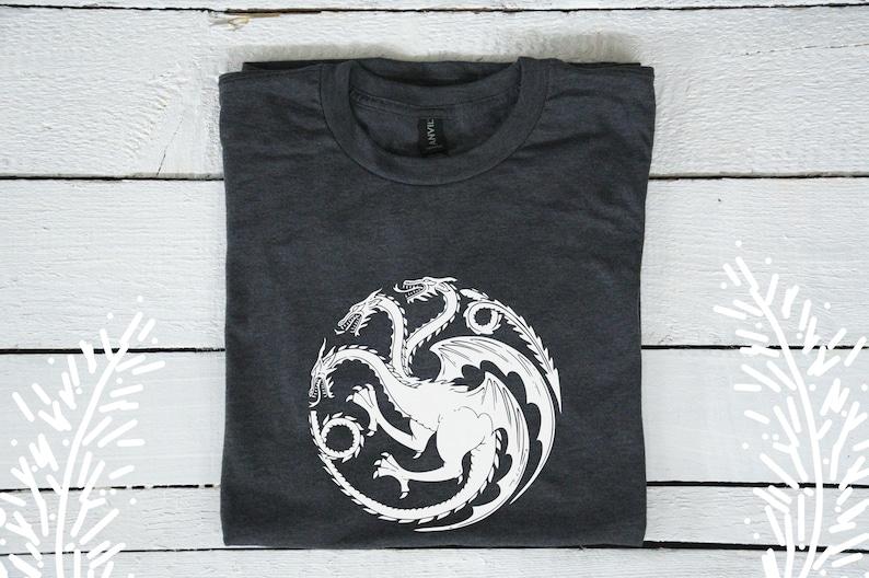 be4cc5a43 House Targaryen sigil tee t-shirt / Game of Thrones shirt | Etsy