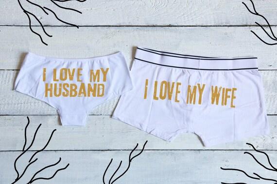 00777cfc2681d Jaime ma femme femme mari ensemble jaime mon mari culotte | Etsy