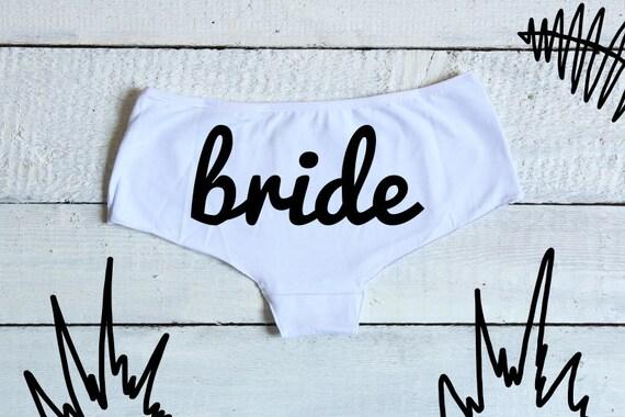 Bride Underwear, Bride Undies, Mrs Panties, Bridal Shower, Bride Lingerie, Bachelorette Gift, Bride Boyshorts, I Do Undies, Bridal Party