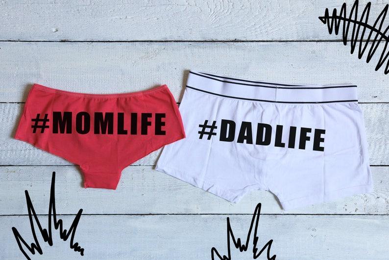 2edb873135 Mom Dad Set Couples Underwear Set Dadlife New Parent Gifts