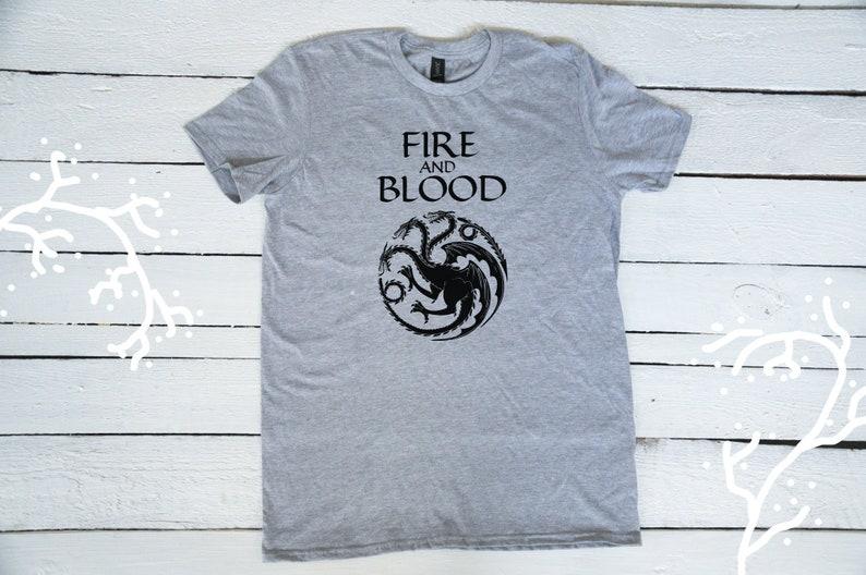 6849defee Fire and blood Daenerys Targaryen shirt top / House Targaryen | Etsy