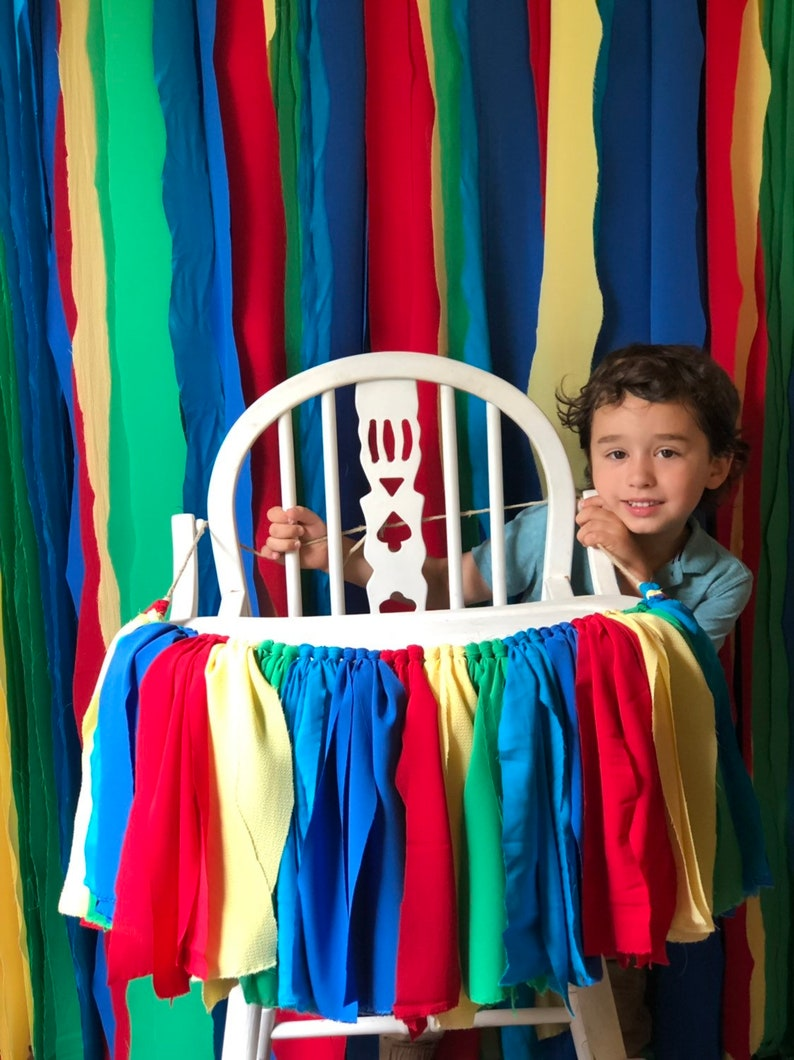 Colorful Banner 1st Birthday Boy First Birthday Banner Boy Highchair Banner Boy Boy First Birthday Decor High Chair Banner Boy