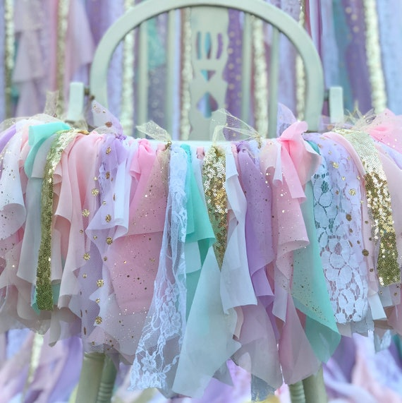Unicorn Highchair Banner Tutu High Chair