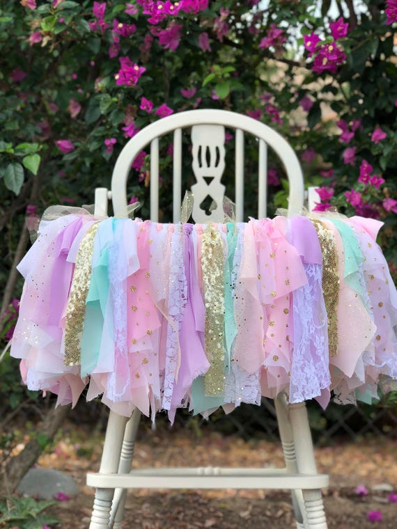 Unicorn High Chair Banner by WithLOVEeventdecor