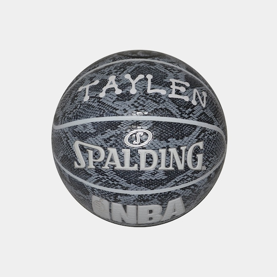 Customized Personalized Basketball Spalding Indoor/Outdoor White Snake Official Size 29.5 Gift