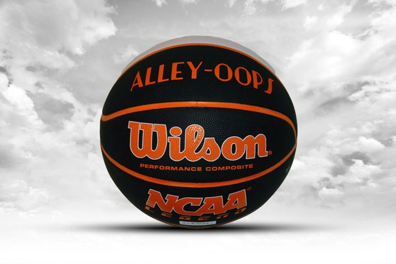Customized Personalized Wilson NCAA Legends Orange/White/Black Indoor/Outdoor Basketball