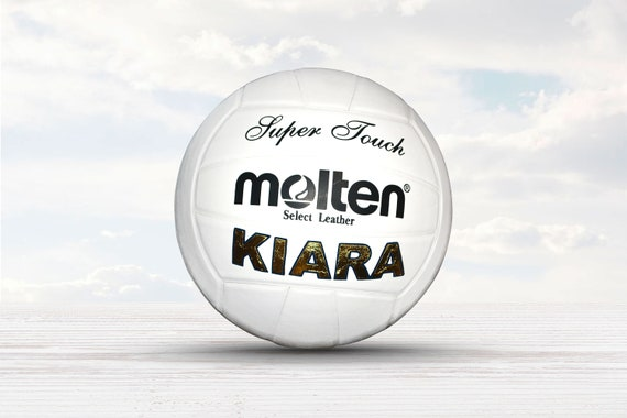 Customized Personalized Molten Super Touch Leather Indoor Volleyball Gift