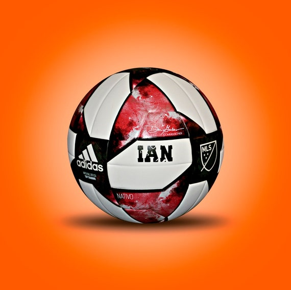 Customized Personalized Adidas Soccer MLF NFHS Ball Size 4 Gift