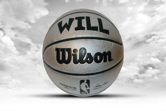 Customized Personalized Wilson Platinum Edition Indoor/Outdoor Basketball Size 29.5