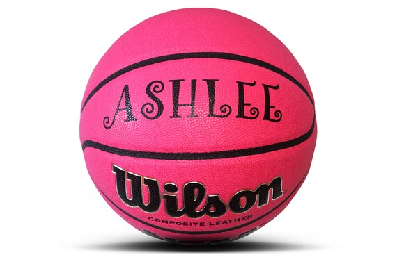 Customized Personalized Wilson NCAA Replica Indoor/Outdoor Size 27.5 Basketball Pink