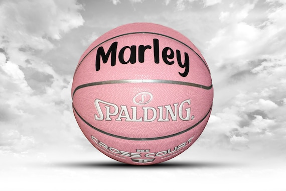 Customized Personalized Basketball Spalding Indoor/Outdoor Pink Gift
