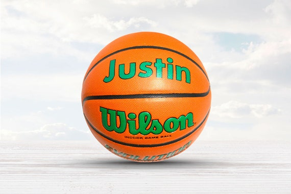 Customized Personalized Wilson Evolution Indoor NCAA Official Size 29.5 Basketball in Green