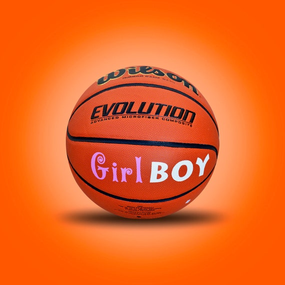 Customized Personalized Wilson Evolution Gender Reveal Basketball Girl Boy
