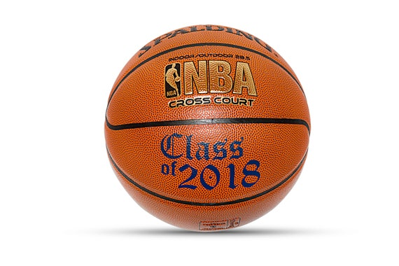 Customized Personalized Basketball Spalding Indoor/Outdoor Official Size Gift Class of 2018 Graduation Gift