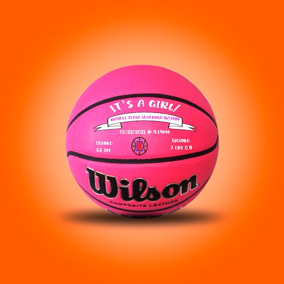 Custom Order for 2 Pink Wilson Basketballs size 27.5 with Text and Logo