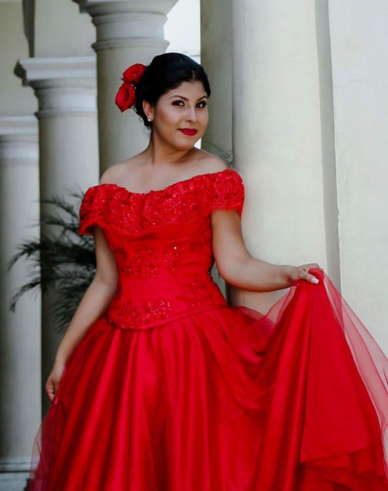 c4054700d8e Mexican Dress. Quinceañera ball gown. Mexican fiesta Dress.