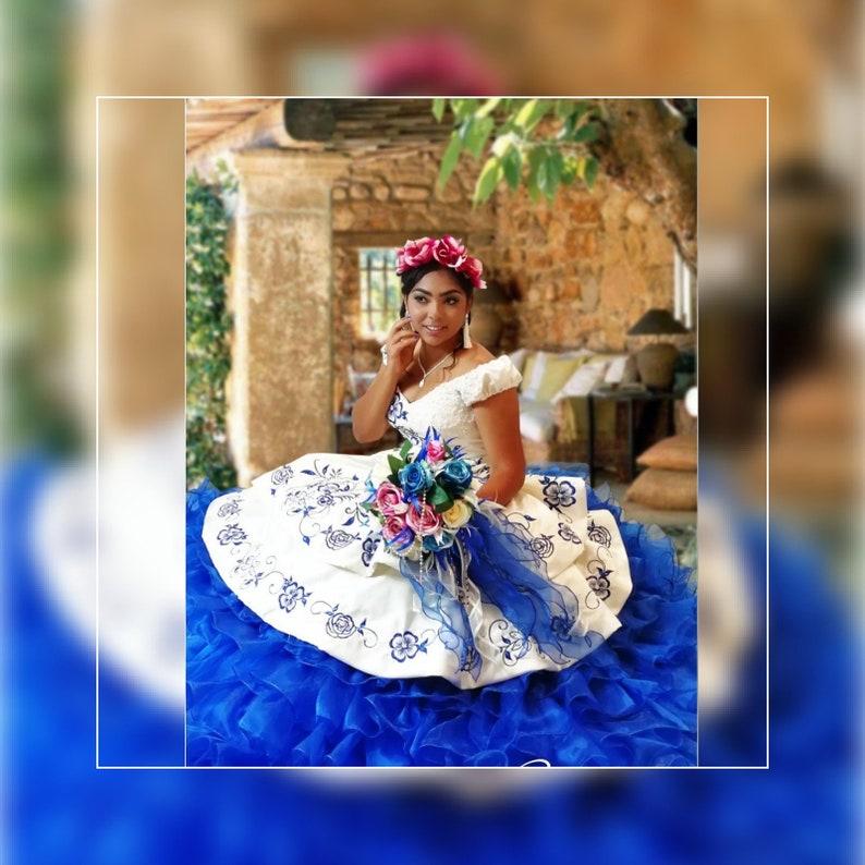 640a7ed96f6 Royal Blue Mexican quinceañera.Custom Made. Quinceañera