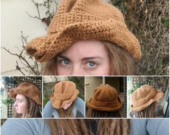 cda0b824a6c3f Wearable art crochet wool funky cowboy folk hat