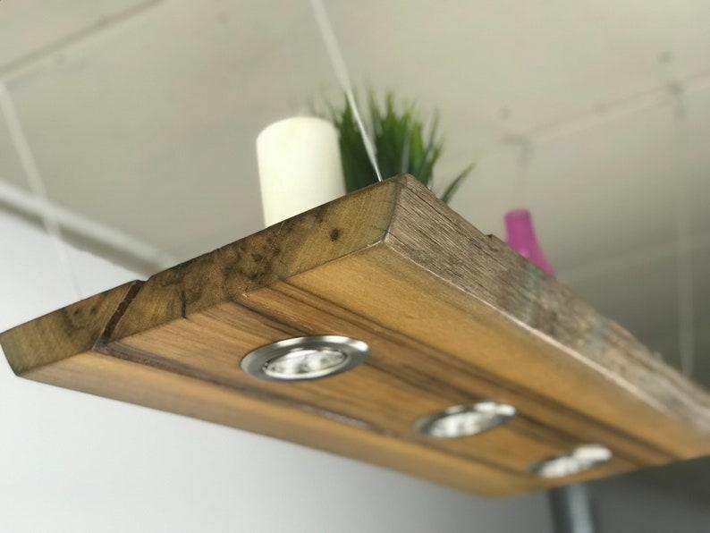 Greenheart Harbor wood LED hanging Lamp 80 cm single Piece Solid wood