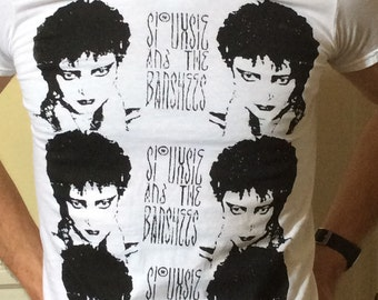 Hand printed siouxsie and the banshees shirt