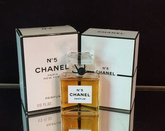 Chanel no 5 Perfume 1/3oz vintage 1980s