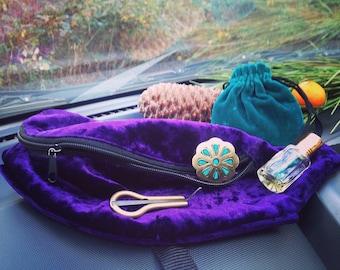 Fanny pack Purple Bum Bag Spring Mood