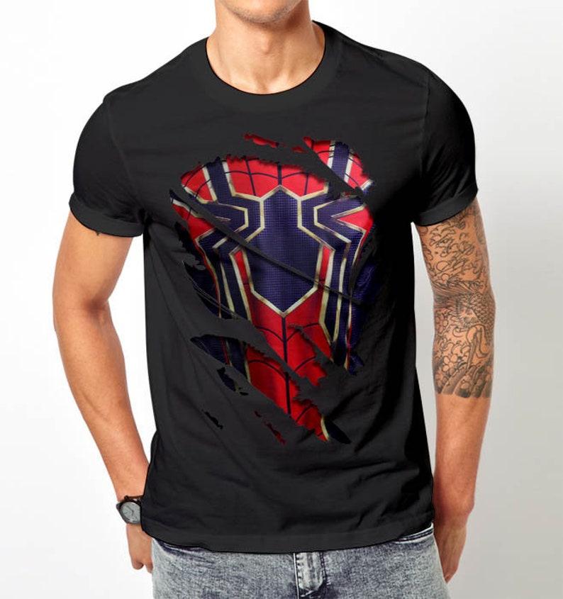 Lustig Eisen Spinne Spiderman T Shirt Der Rächer Wunderwerk Shirt Unisex T Shirt Druck
