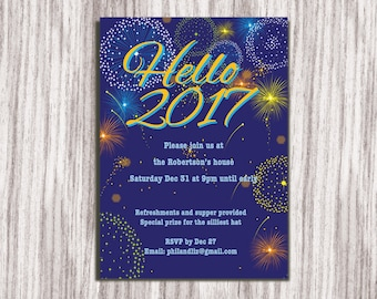 new years eve party invitation new years invitation new years party invite party invitation new years invite new year 2017 invitation