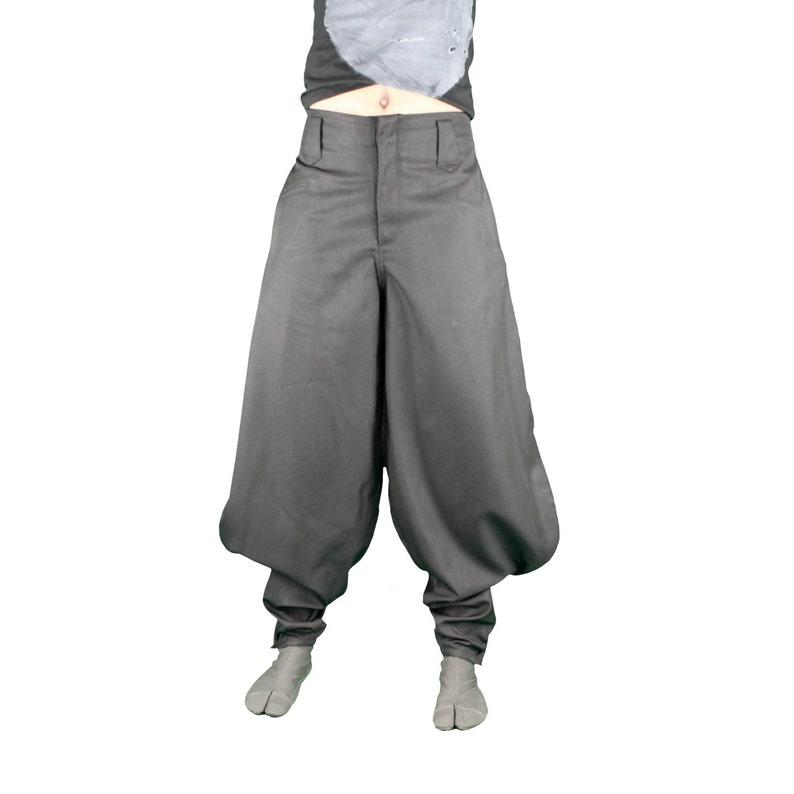 Nikka Pantalon Japones En Gris Pantalones Jodhpur Pantalones Etsy