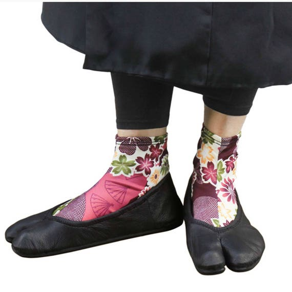 Chaussette Tabi à fleurs Kaedesakura