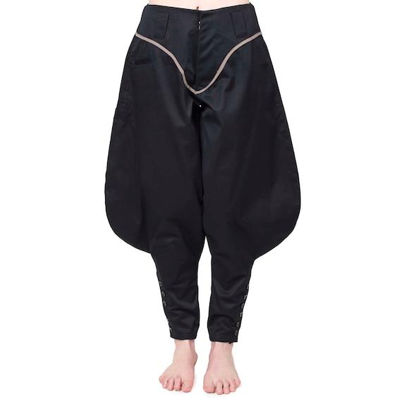 Nouveaux produits 1cbb1 4450c Pantalon japonais Nikka passepoilé, jodhpur pants, pantalon japonais large,  pantalon de charpentier japonais revisité by Trazita.