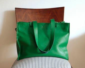 Green Genuine Leather Bag