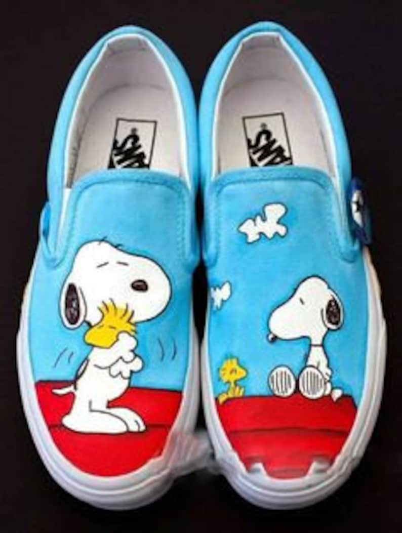 b07a5ae34bf2c0 Vans snoopy Shoes Peanuts hand painted
