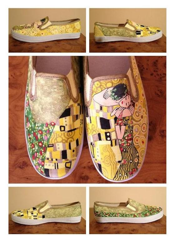 originale de peintes peinture Chaussures nbsp; Vans Chaussures Klimt une avec x1qvUwUB