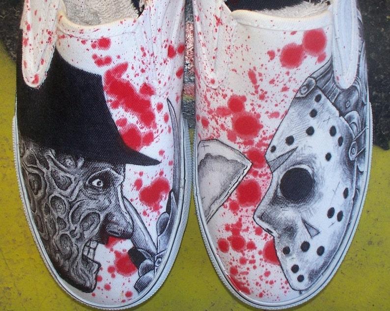 fc9f151700 Vans Freddy vs. shoes Jason Hand Painted-handpainted shoes