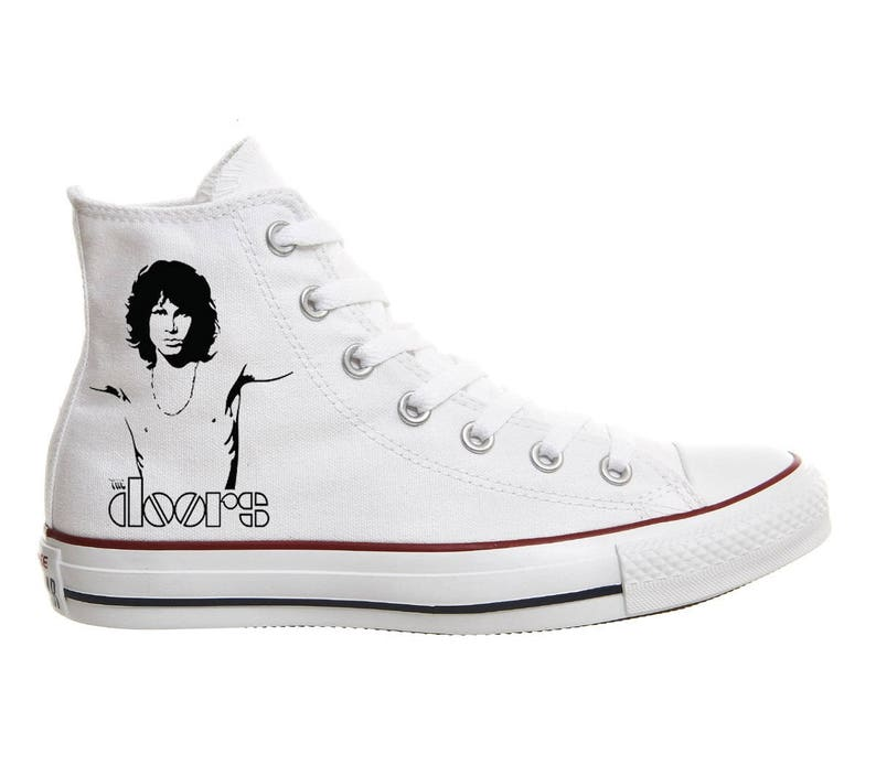 Converse shoes Jim Morrison The Doors Hand Painted