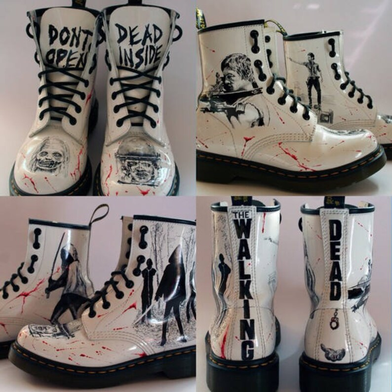 07ffb1c27a46 Shoes Amphibians Dr. Martens The Walking Dead hand