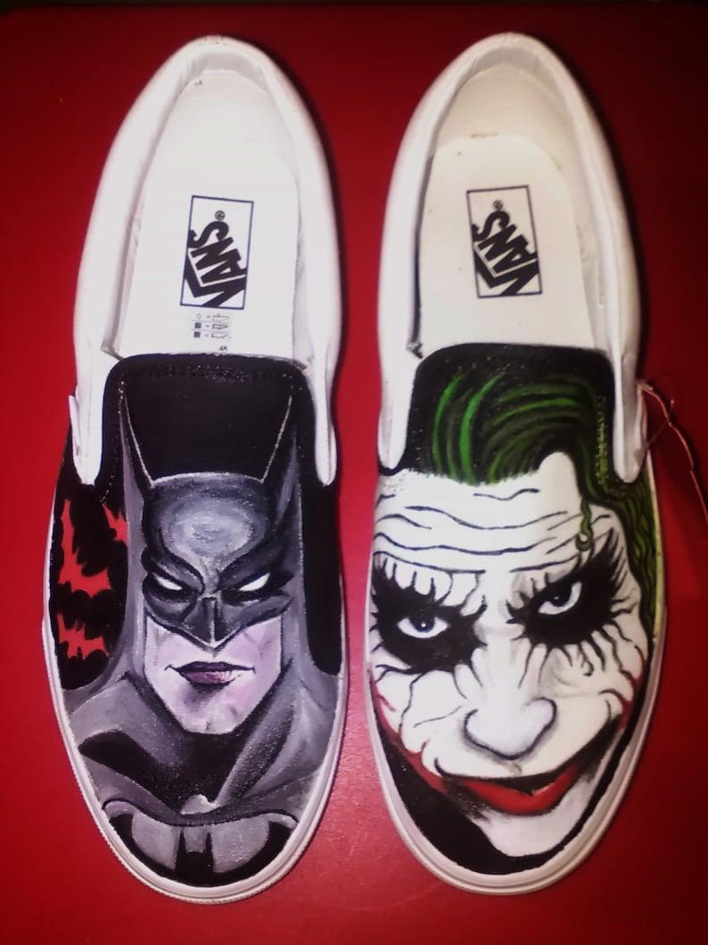 dfba74cb7986 Batman vs. Joker Vans custom shoes