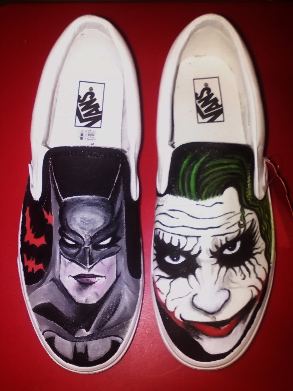 60c64fda0e Batman vs. Joker Vans custom shoes