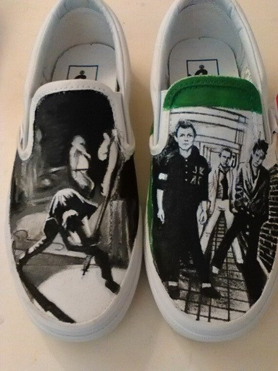 de The Clash chaussures Custom peintes Vans 7E0WOq