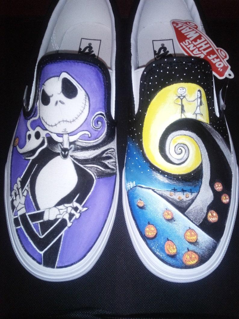 381d172b16 VANS CONVERSE Shoes original custom hand-painted Nightmare