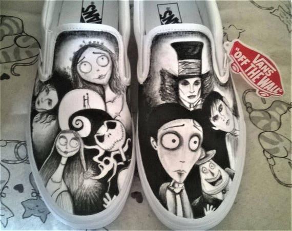 Vans Tim characters Scissorshands Shoes before Corps Movies Frankenweenie Christmas Bride Burton handpainted Edward Nightmare rrxqAwtH1