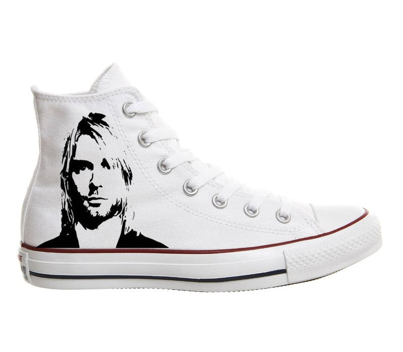 Converse Kurt Cobain Nirvana shoes hand painted