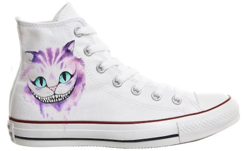 3760890ff9a3 Converse shoes Cheshire Cat Alice in Wonderland