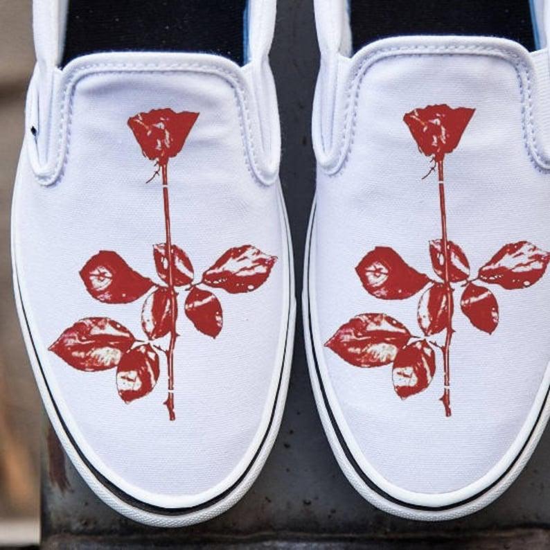 Schuhe Handbemalte Depeche Vans Bemalt Violator Hand Mode E2eIDYWH9