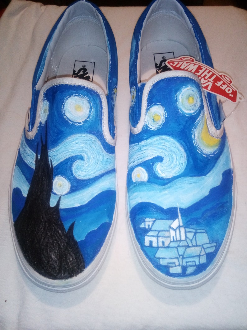 Van Gogh Starry Night Vans handpainted by The Noir Desire